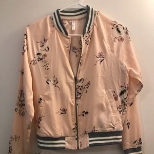 Xhilaration Cherry Blossom Bomber Jacket